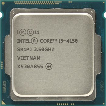 Процессор Intel Core i3-4150 3.5 GHz/2core/SVGA HD Graphics4400/0.5+3Мб/54W/5 GT/s LGA1150