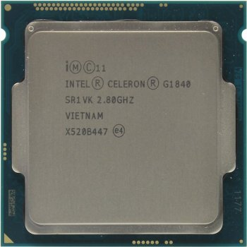 Процессор Intel Celeron G1840 BOX 2.8 GHz/2core/SVGA HD Graphics/0.5+2Mb LGA1150