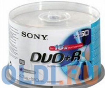 Диск DVD+R SONY 4.7Gb Bulk 16x 50 шт