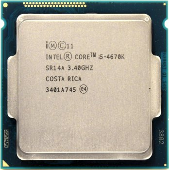 Процессор Intel Core i5-4670K BOX 3.4 ГГц/4core/SVGA HD Graphics 4600/1+6Мб/84 Вт/5 ГТ/с LGA1150