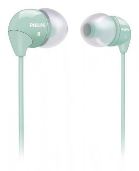 Наушники Philips SHE3590LB/10 голубой 1.2м