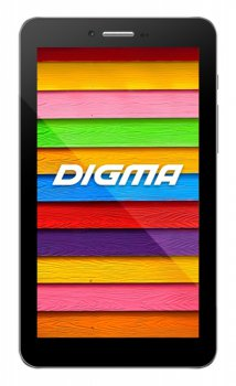 "Планшетный компьютер Digma Optima 7.7 3G TT7077MG MTK8312 (1.3) 2C A7/RAM512Mb/ROM4Gb/7"" TFT 1024*600/3G/WiFi/BT/0.3Mp/0.3Mp/GPS/And4.4/black/Touch/mi"