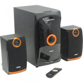 Колонки Диалог Progressive AP-200 <Black> (2x15W + Subwoofer 30W, USB, SD-reader)