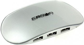 Концентратор USB Crown <CMH-B20> Silver USB2.0 Hub 4 port