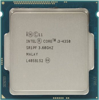 Процессор Intel Core i3-4350 BOX 3.6 GHz/2core/SVGA HD Graphics 4600/0.5+4Мб/54W/5 GT/s LGA1150