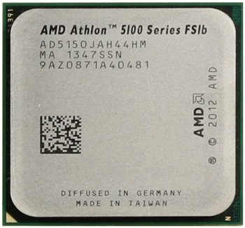 Процессор AMD ATHLON 5150 (AD5150J) 1.6 GHz/4core/SVGA RADEON R3/ 2 Mb/25W Socket AM1