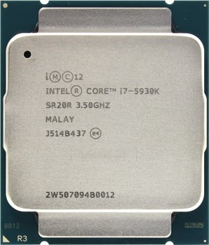Процессор Intel Core i7-5930K BOX (без кулера) 3.5 GHz/6core/1.5+15Mb/140W/5 GT/s LGA2011-3