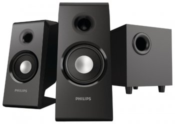 Колонки Philips SPA2335/12 (2.1) черный 28W