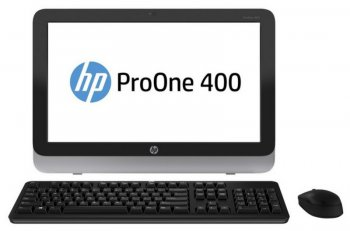 "Моноблок HP ProOne 400 AIO 23"" HD i3 4150T/4Gb/500Gb/SSD 8Gb/DVDRW/W8.1Pro64dng/WiFi/BT/клавиатура/мышь"