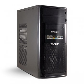Корпус CROWN CMC-SM603 USB3.0 black/silver ATX 500W