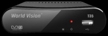 Ресивер эфирного телевидения DVB-T2 World Vision T35 (MultiView,PVR&TiteShift,FullEPG,USB,1080p,HDMI,3xRCA,DDR2 32MB,чип Acer Ali M3821,тюнер Maxlinea