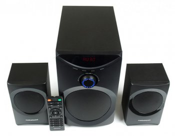 Колонки Nakatomi GS-25 <Black> (2х8W + Subwoofer 12W, USB+ SD-reader)