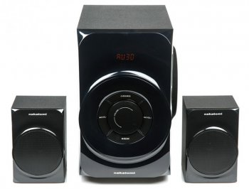 Колонки Nakatomi GS-30 <Black> (2х15W + Subwoofer 30W, USB+ SD-reader)