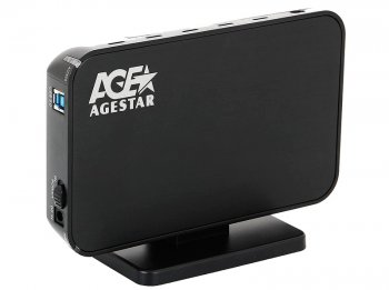 "Внешний бокс AgeStar 3UB3A8-6G usb3.0 to 3.5""hdd SATA (black)"