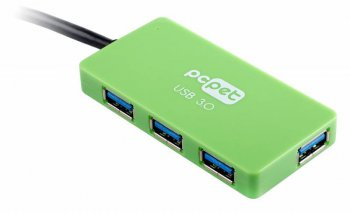 Концентратор USB 3.0 PC Pet ColorBoxGreen