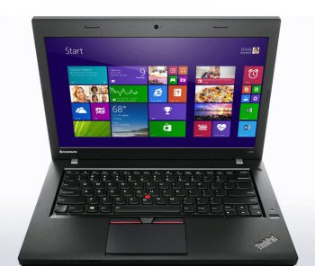 "Ноутбук Lenovo ThinkPad L450 Core i3 5005U/4Gb/500Gb/Intel HD Graphics 5500/14""/HD/Windows 7 Professional 64 +W8.1Pro/black/WiFi/BT/Cam"