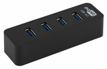 Концентратор USB 3.0 PC Pet BW-U3054A black 4-Port USB 3.0/2.0