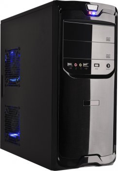 Корпус 3Cott 4020 ATX, 450Вт, USB Audio черный.