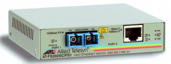 Медиаконвертер Allied Telesis (AT-FS202) 10/100TX (RJ-45) to 100FX (SC) 2 port
