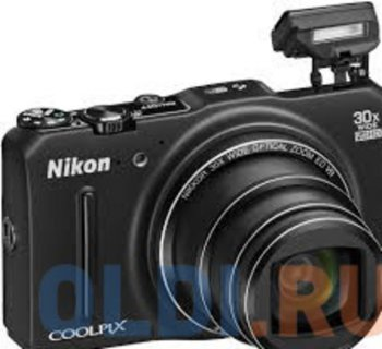 "Фотокамера Nikon Coolpix S9700 Black <16Mp, 30x zoom, 3"", SDHC, 1080P, GPS+ГЛОНАСС, WiFi> (РОСТЕСТ)"