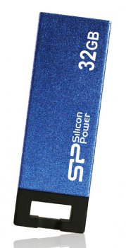 Накопитель USB Silicon Power 32Gb Touch 835 SP032GBUF2835V2B USB2.0 голубой