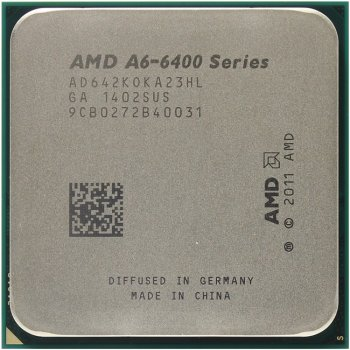 Процессор AMD A6 X2 6420K Socket-FM2 (AD642KOKHLBOX) (4.0/5000/1Mb/Radeon HD 8470D) Box