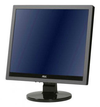 "Монитор AOC 17"" e719sda/01 Silver-Black TN 5ms 5:4 DVI M/M 20M:1 250cd"