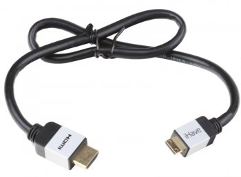 Кабель Belsis\iHave BF1010 HDMI A вилка - HDMI C (mini HDMI) вилка; High Speed W/E; 0,5 метра; Gold