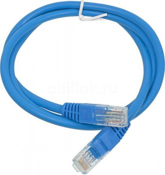 Кабель UTP Patchcord molded 5E Copper 1m Blue
