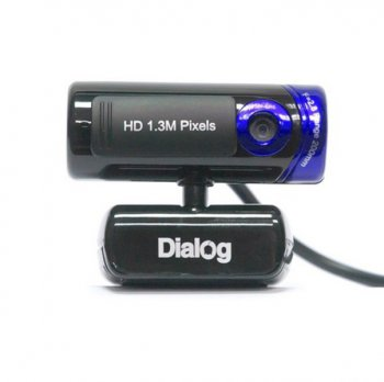 ВЕБ-камера Dialog WC-21U Black-Blue HD, встр. микрофон, UVC, USB