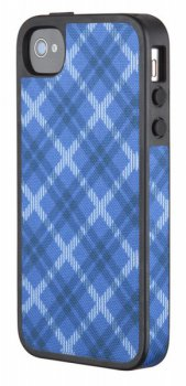 Чехол Speck для iPhone 4S FabShell Tartan Plaid Blue (SPK-A1210)