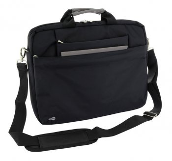 "Сумка для ноутбука PC PET PCP-W6750BK 15.6"" Nylon HQ, Style Toplader, Front compartment, Черный"