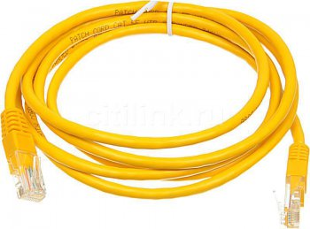 Кабель UTP Patchcord molded 5E Copper 2m Yellow
