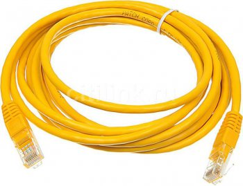 Кабель UTP Patchcord molded 5E Copper 3m Yellow