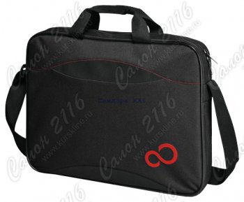 "Сумка для ноутбука Fujitsu Casual Entry 16"", nylon, black with red details"