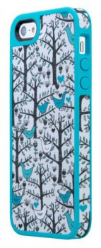 Чехол Speck для iPhone 5/5S FabShell LoveBirds Teal (SPK-A0763)