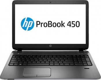 "Ноутбук hp 450 Core i5-4210U/8Gb/750Gb/DVDRW/HDG/15.6""/HD/Mat/Win 8.1 Professional downgrade to Win 7 Pro 64/grey/BT4.0/6c/WiFi/Cam"
