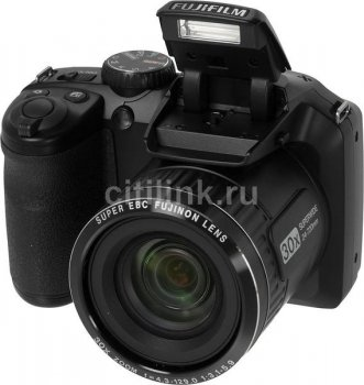 "Фотокамера FujiFilm FinePix S4800 black 16Mpix Zoom30x 3"" 720p SDHC CCD IS opt VF HDMI AA"