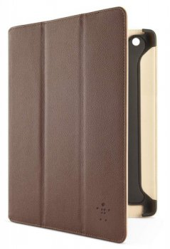 Чехол Belkin для iPad3/iPad2 CASE,FOLIO,PU/LTHR,NEW iPAD,TRFLD MGNT,BRN/TAN0F8N755cwC02