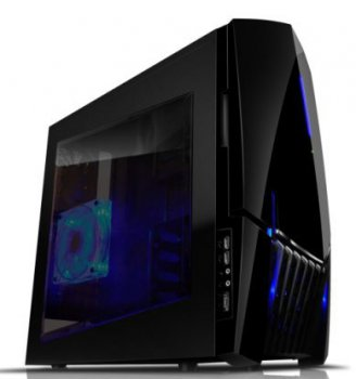 Корпус NZXT Lexa S черный w/o PSU ATX 1x120mm 1x140mm 2xUSB2.0 1xE-SATA audio front door bott PSU
