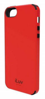 Чехол iLuv для iPhone5 Regatta red из поликарбона+термопластик (ICA7H321RED)