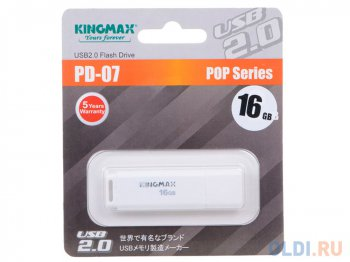 Накопитель USB 16GB USB Drive <USB 2.0> Kingmax PD-07 Write