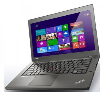 "Ноутбук Lenovo ThinkPad T440 Core i5-4210U/8Gb/128Gb SSD/HD4400/14""/HD+/Mat/Win 7 Professional 64/black/BT4.0/Win8.1 Pro upgrade RDVD/3+6c/WiFi/Cam"