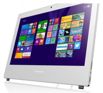 "Моноблок Lenovo S40-40 21.5"" 1920x1080 P G3240/4Gb/500Gb/DVDRW/CR/Win 7 Pro upgrade to Win 8.1 Pro/клавиатура/мышь/Cam/белый"