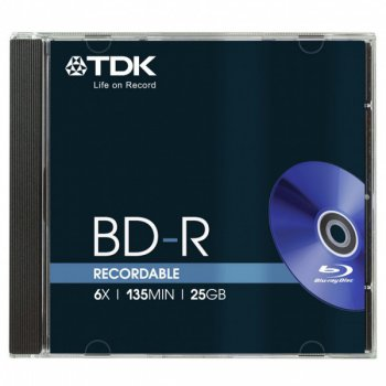 Диск BD-R TDK 25Gb 6x Jewel case (5шт) (t78057)