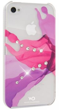 Чехол White Diamonds для iPhone5 Liquids Pink пластик Swarovski (WD-1210LIQ41)