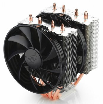 Вентилятор Deepcool FROSTWIN Soc-2011/1150/1155/1156/AM3+/FM1/FM2 4pin 18-21dB Al+Cu 130W 712g винты