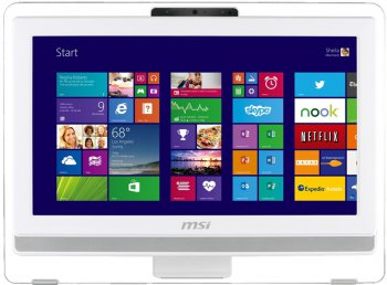 "Моноблок MSI AE201-040RU 19.5"" HD Touch P G3240/4Gb/500Gb/IntHDG/DVDRW/DOS/WiFi/white/250cd/1000:1 1600*900/Web/клавиатура/мышь"