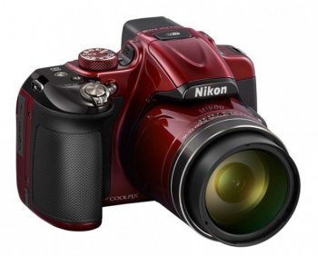 "Фотокамера Nikon CoolPix P600 red 16Mpix Zoom60x 3"" 1080p 56Mb SDHC SDXC IS VF HDMI WiFi EN-EL23"