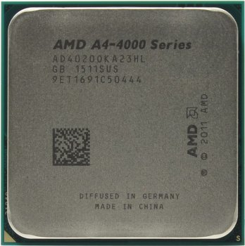 Процессор AMD A4-4020 BOX (AD4020OK) 3.2 GHz / 2core / SVGA RADEON HD 7480D / 1 Mb / 65W / 5 GT / s Socket FM2